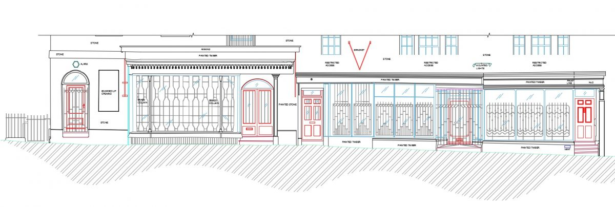 Measured Building Survey Of Listed Facades In the City Of Bath
