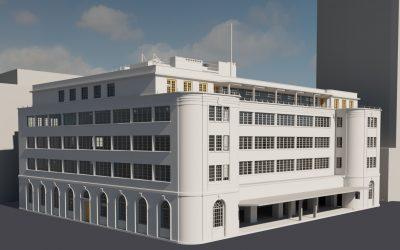 3D Measured Building Survey, Segas House, Croydon, London