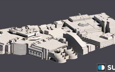 3D Roofscape Model, Centrale Shopping Centre, Croydon, London