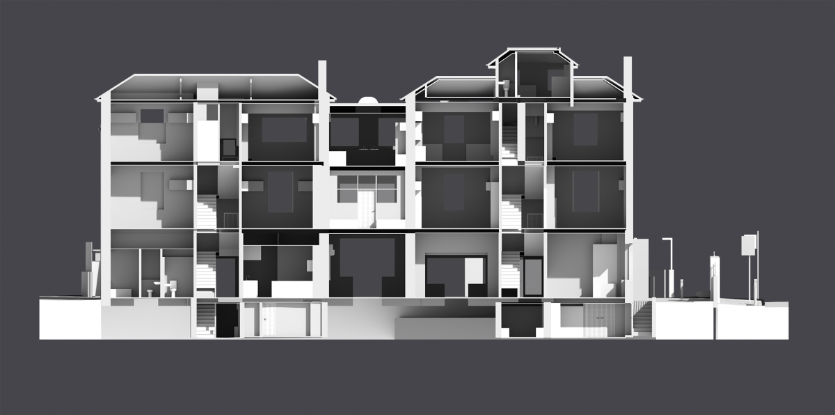 3D Measured Building Survey Model, Independent School, London