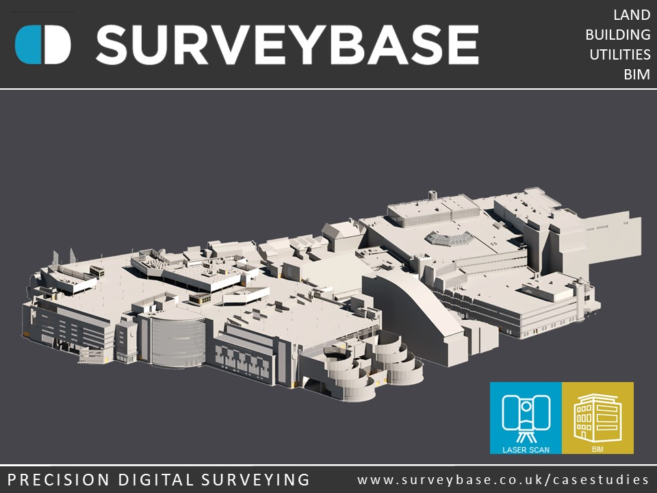 3D Laser Scan To BIM Model of Centrale Shopping Centre, Croydon, London