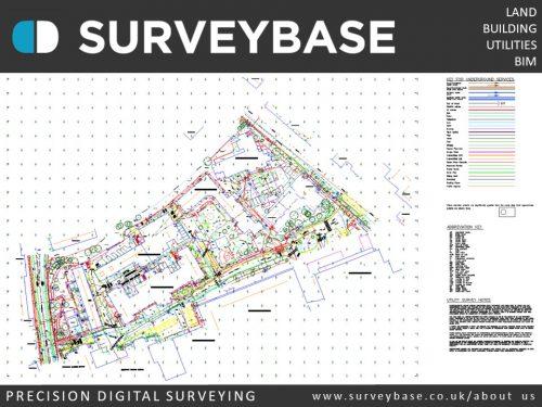 Topographical Survey & Utilities Survey, London
