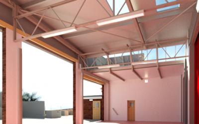 3D Measured Building Survey Model, Fire & Rescue Station, Bristol