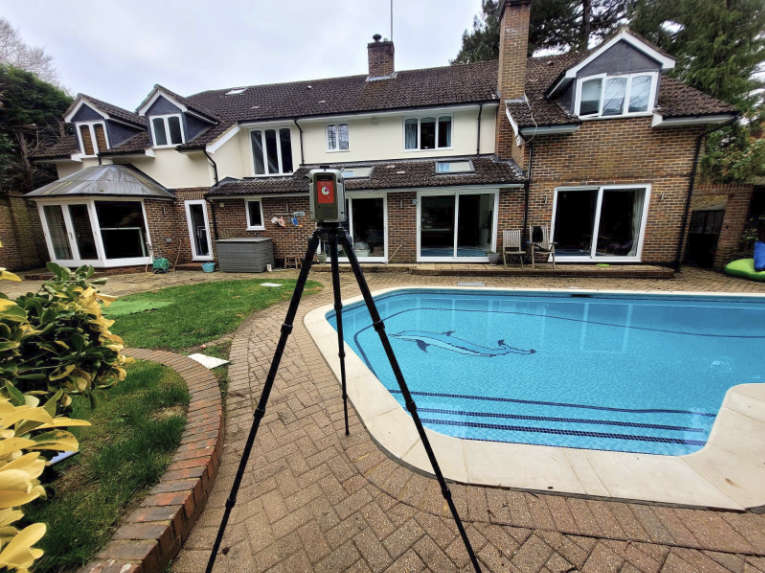 Surveybase Residential Measured Building Survey of house with pool