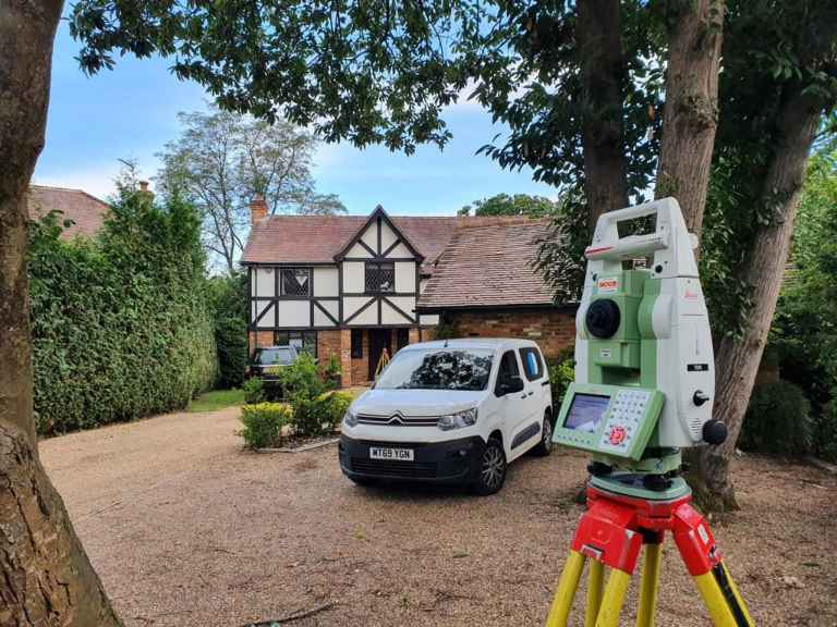 Surveybase Residential Topographical Survey with van and equipment